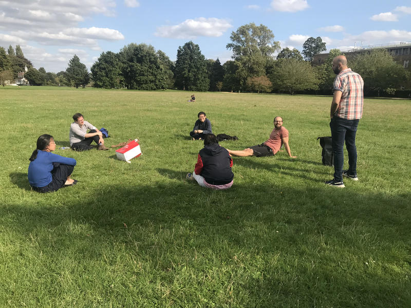 Meeting in the park